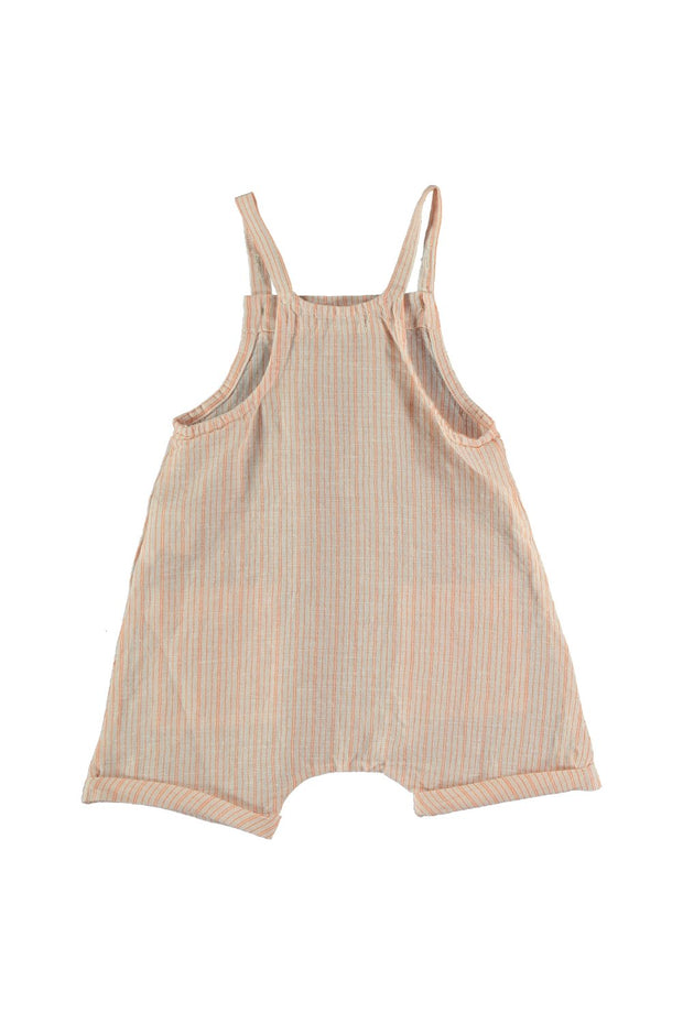 STRIPED BABY SHORTALLS
