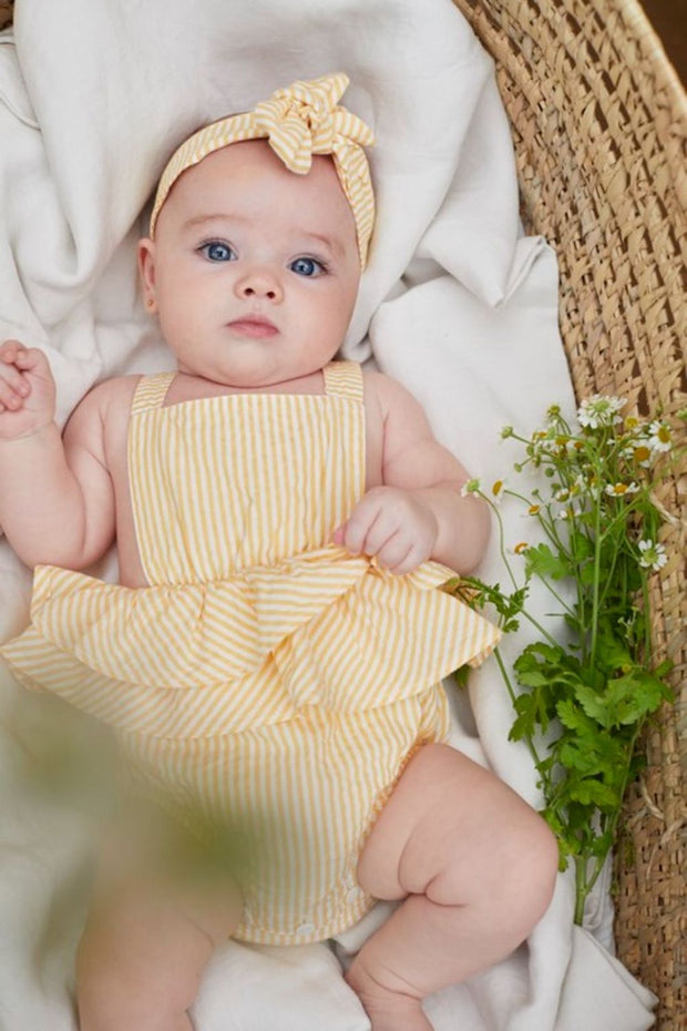 STRIPED BABY ROMPER
