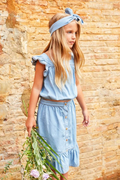 girls chambray skirt