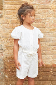 girls linen romper
