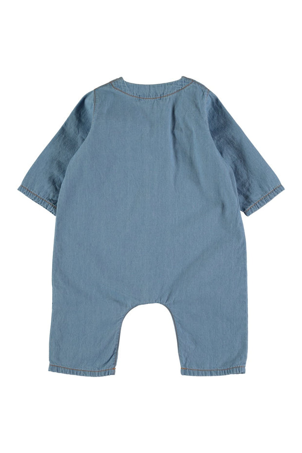baby chambray overalls