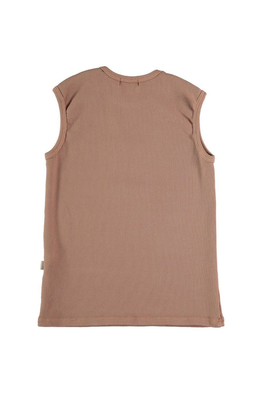 ORGANIC RIB SLEEVELESS T-SHIRT