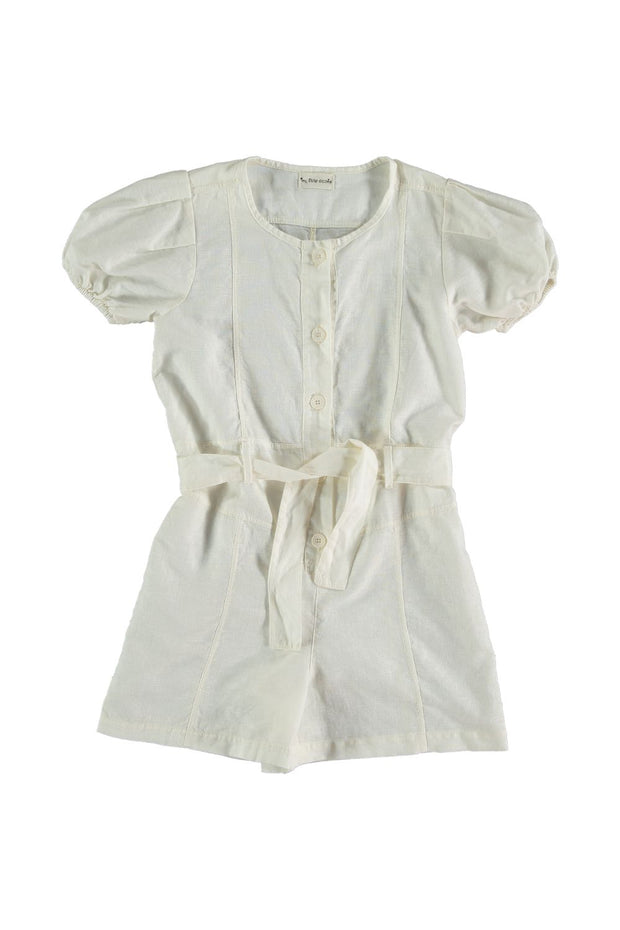 girls white romper