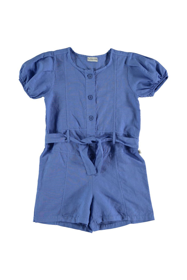 blue girls romper