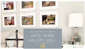 How to create a white frame gallery wall