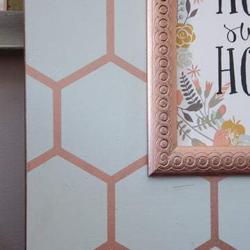 Rose Gold Honeycomb