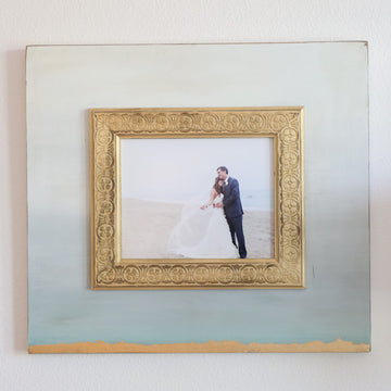 Mount Saint Anne Gold Leaf Ombre Frame