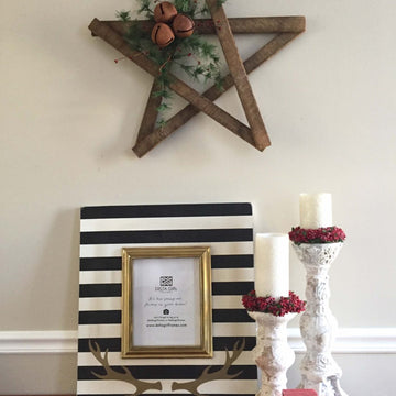 Fancy Antler Stripe Frame
