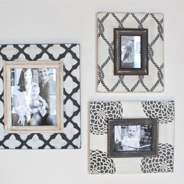 3-Piece Black and White Frame Trio