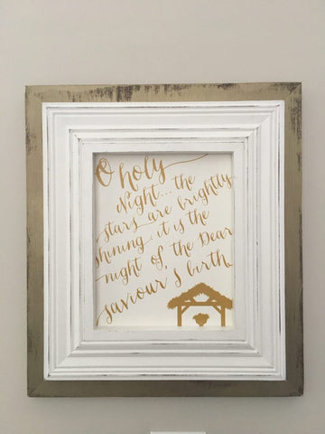 Chic Gold Wash Frame