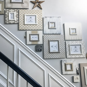 Neutral Stairwell Frames (16-Piece)