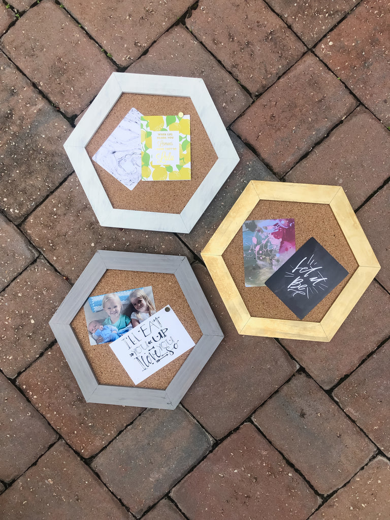 *New* Hexagon Cork boards