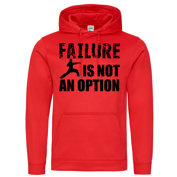 Failure Is Not An Option Red Hoodie