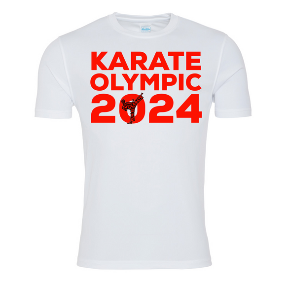 Karate Olympic 2024 T-shirt (White-Red)