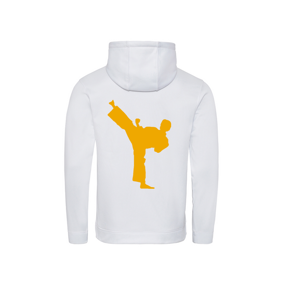 Obsessed white/gold karate hoodie