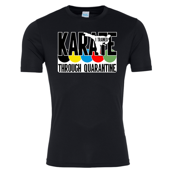Karate through quarantine T-shirt (Black)