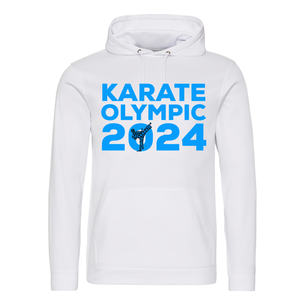 Karate Olympic 2024 Hoodie (White-Blue)