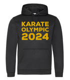 Karate Olympic 2024 Hoodie (Black-Gold)