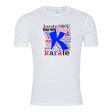 Karate Typography T-shirt