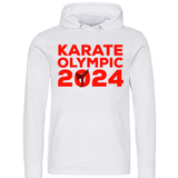 Karate Olympic 2024 Hoodie (White-Red)