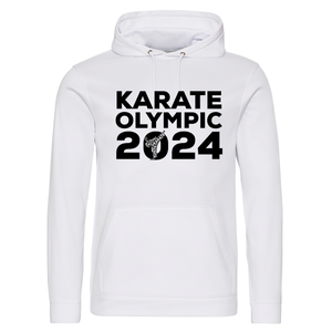 Karate Olympic 2024 Hoodie (White-Black)