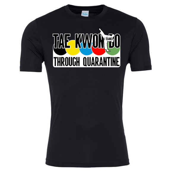 Tae Kwon Do through quarantine T-shirt (Black)
