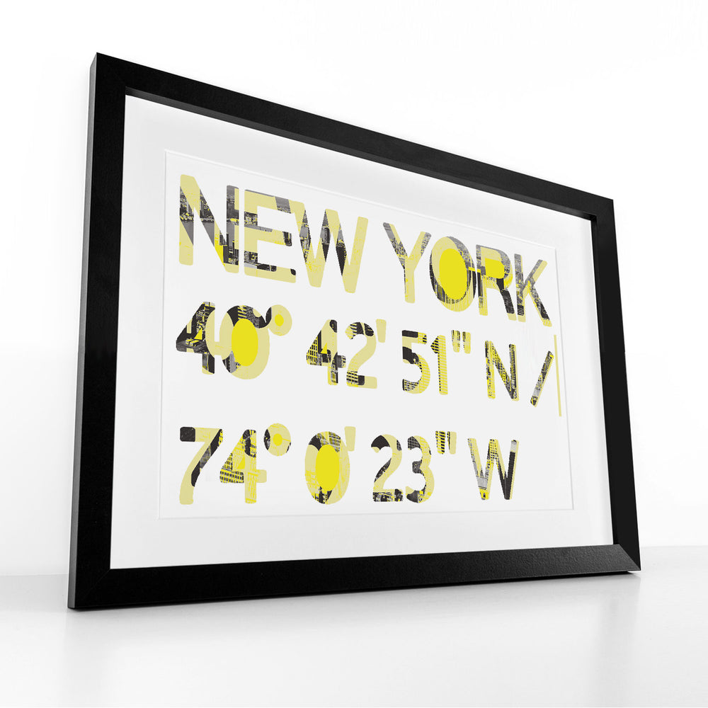 New York, New York (Yellow) -  Framed Print by Hendrik