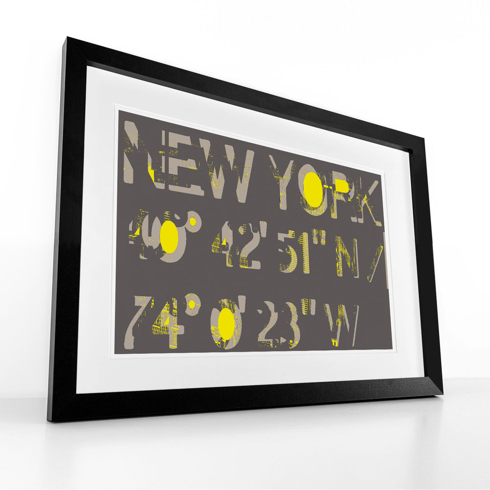 New York, New York (Grey) -  Framed Print by Hendrik