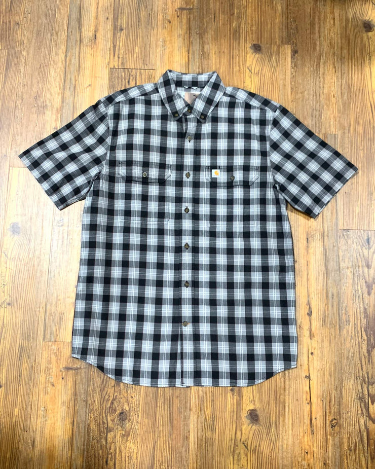 CARHARTT ESSENTIAL PLAID - BLACK & WHITE