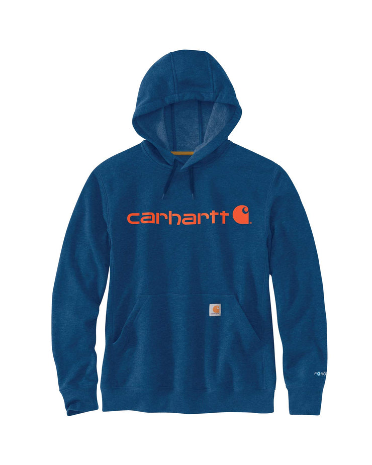 CARHARTT FORCE DELMONT SIGNATURE LOGO HOODED SWEATSHIRT