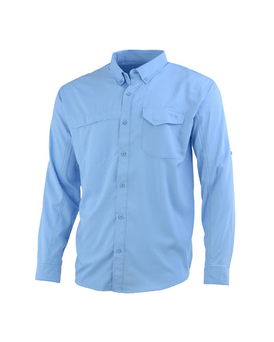 HUK CAROLINA BLUE TIDE POINT LONG SLEEVE SHIRT
