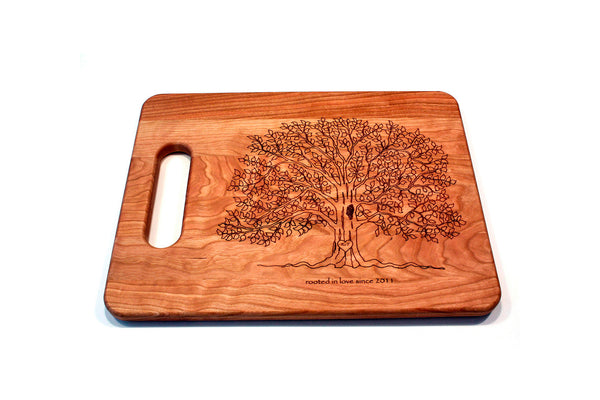 Initialed Tree Cutting Board
