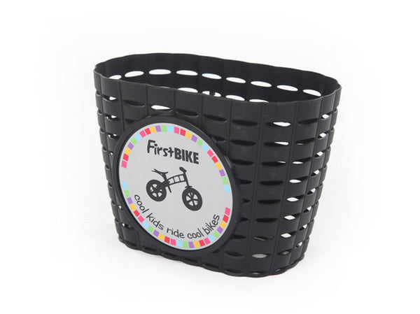 black bicycle basket