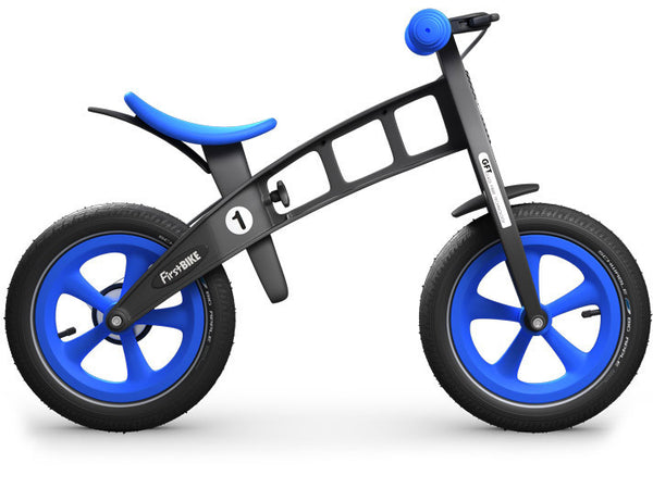 inflatable tire blue balance bike run bike canada FirstBIKE