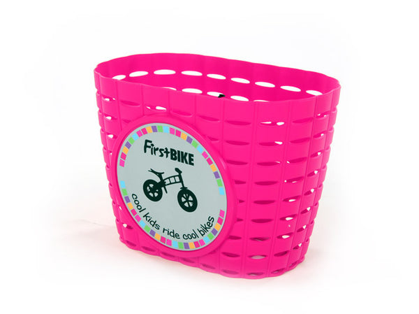 pink kids bike bicycle basket