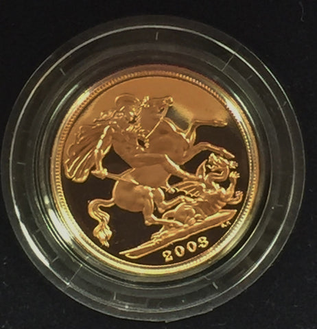 Picture of 2003 Gold Proof Sovereign