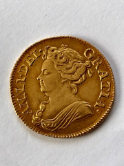 1713/1 Queen Anne Gold Guinea - superb eye appeal
