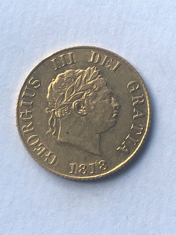 Picture of 1818 King George III Gold Half Sovereign