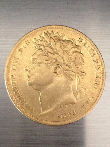 Picture of 1825 King George IV Laurel Head Sovereign