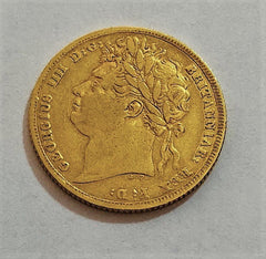 Rare 1825 King George IV Laurel Head Gold Sovereign