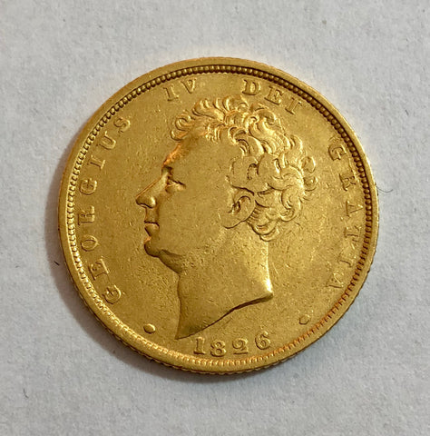 Picture of 1826 King george IV Gold Sovereign