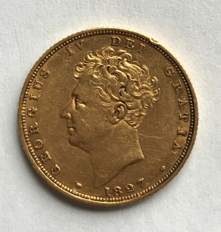 Picture of 1827 George IV Gold Sovereign