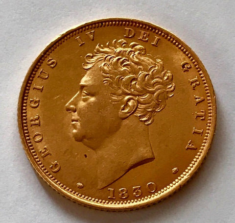 Picture of 1830 King George IV Gold Sovereign in near uncirculated condition