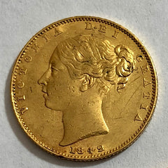 Victoria 1842 gold sovereign