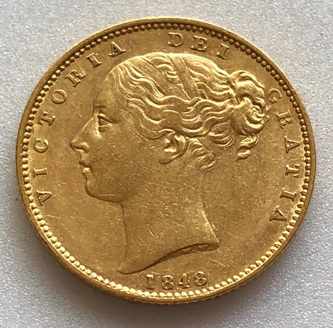 Picture of 1848 Queen Victoria Gold Sovereign