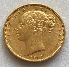 1848 Queen Victoria Gold Sovereign