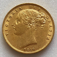 1849 Queen Victoria Gold Sovereign