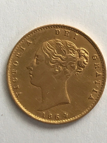 Picture of 1864 Gold Half Sovereign