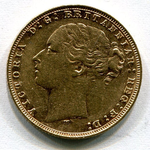 Picture of 1879 Queen Victoria Melbourne Mint Gold Sovereign