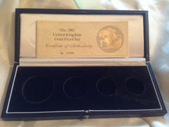 1985 Four Coin Proof Set Case
